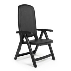 Nardi Charcoal Delta 5-Position Patio Folding Chair