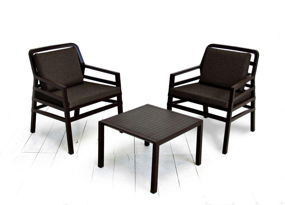 ARIA ( 2 chaise avec des coussins et une table ) Lounge set ( café avec coussins de café )