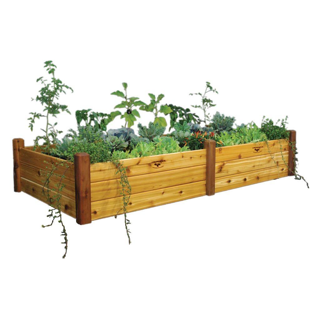 Planche de jardin au fini non toxique, 48 x 95 x 19po