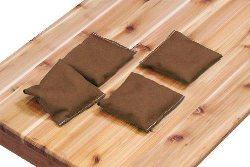 Brown Bean Bags (Set of 4)