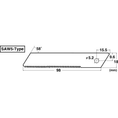 Heavy-Duty Saw Blade. Pack 1 Pc