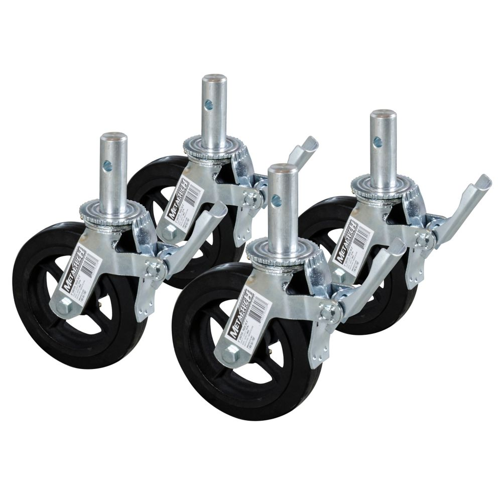 8 In. Scaffold Caster Wheel (4-Pack)