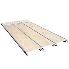 10 ft. x 19-inch Aluminum Scaffold Platform with Plywood Deck (3-Pack)