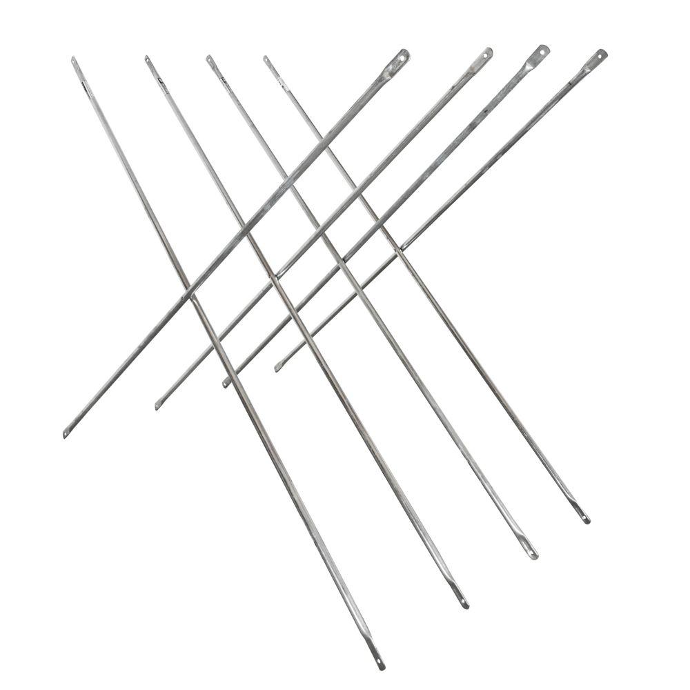 Ensemble de Croisillon Galvanisé 4 pi x 10 pi pour Échafaudage (Paquet de 4)