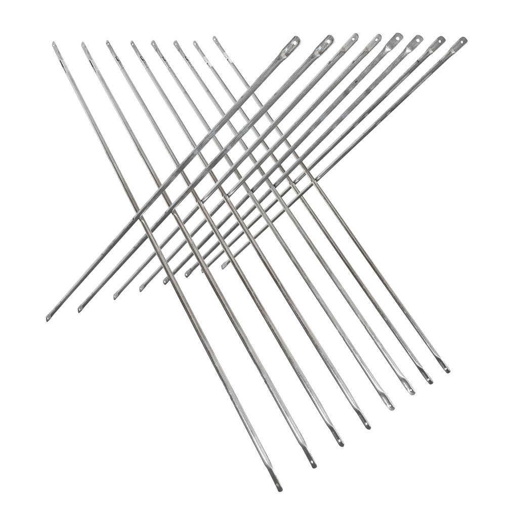 Ensemble de Croisillon Galvanisé 4 pi x 10 pi pour Échafaudage (Paquet de 8)