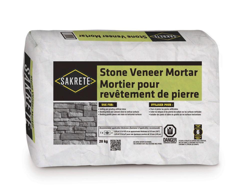Mortier pour revêtement de pierre, 20 kg