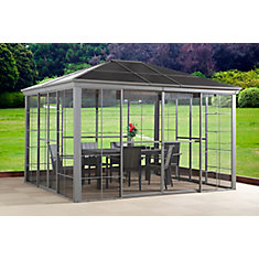 Costa Verde 12 ft. x 12 ft. Sun Shelter in Taupe
