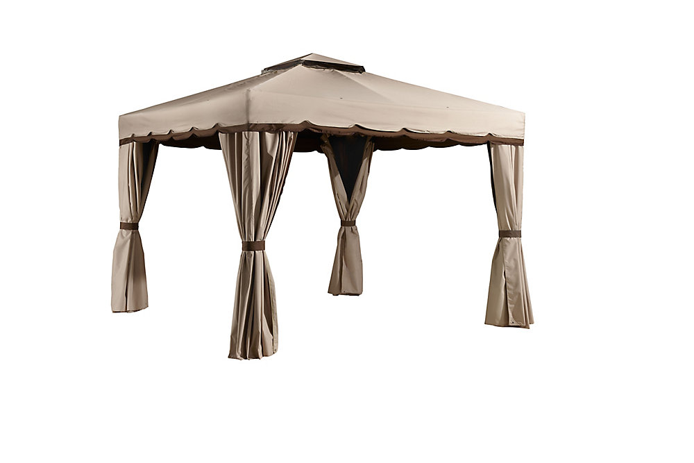 Romano 10 ft. x 10 ft. Sun Shelter in Beige and Brown