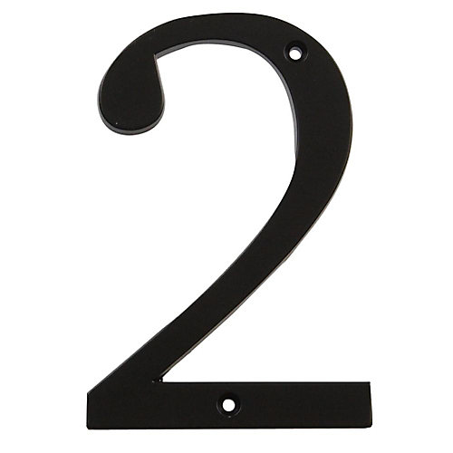 4 Inch Black House Number 2