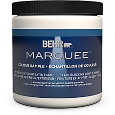 Marquee   8 oz Deep Base Satin Enamel Interior Paint Sample with Primer