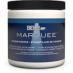 Marquee   8 oz Medium Base Satin Enamel Interior Paint Sample with Primer