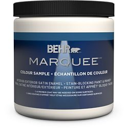 Behr Marquee Marquee 8 oz Medium Base Satin Enamel Interior Paint Sample with Primer