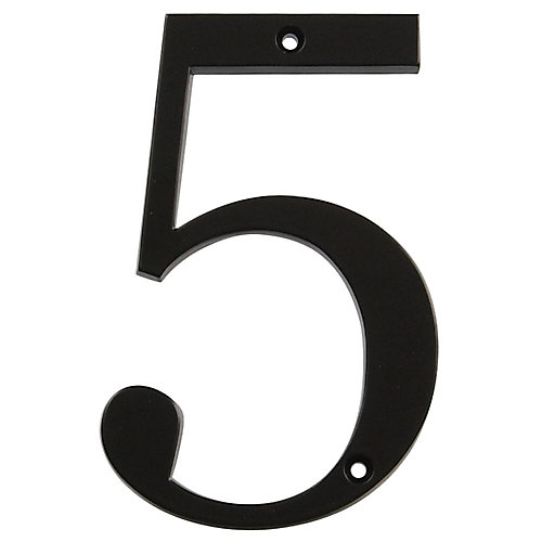 4 Inch Black House Number 5