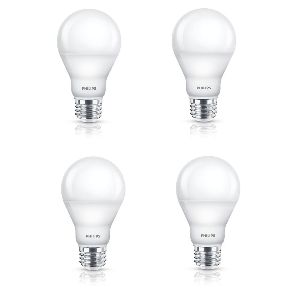 LED 6.5W = 40W A-Line (A19) Warm Glow (2700K - 2200K) - Case of 4 Bulbs