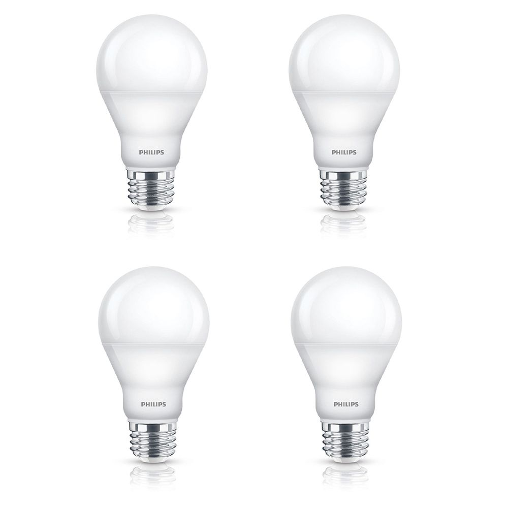 LED 6W 40W A-Line (A19) Daylight (5000K) - Case of 4 Bulbs 455808 in Canada
