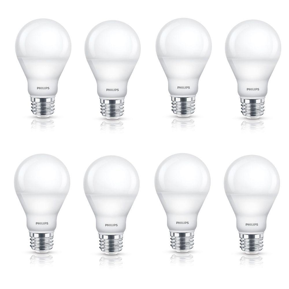 Équivalent DEL à une A19 60 W Warm Glow Lumière gradable (2 700 K - 2 200 K) - 2 PAQ. - Cas de 8 ...
