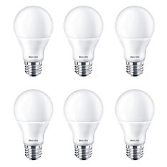 LED 60W A-Line (A19) Daylight (5000K) - Case of 6 Bulbs - ENERGY STAR®