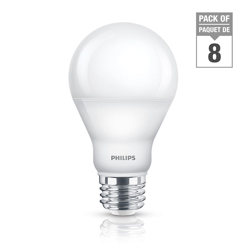 LED 9W = 60W A-Line (A19) Daylight (5000K) - Case Of 8 Bulbs
