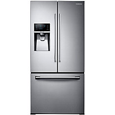33-inch 25.5 cu. ft. French Door Refrigerator with Ice Dispenser in Stainless Steel