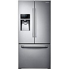 Réfrigérateur à double porte avec distributeur de glaçons, 25,5 pi3, 33 po, acier inoxydable - ENERGY STAR®