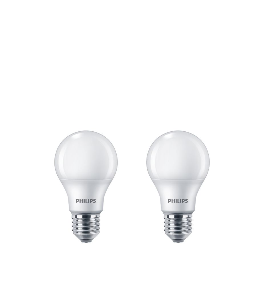 LED 8W = 60W A-Line (A19) Daylight Non-Dimmable (5000K) 2 Pack