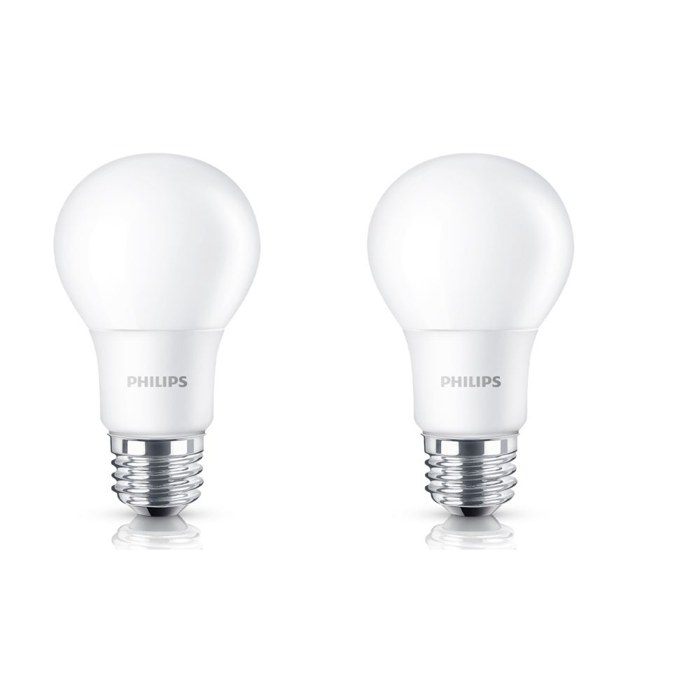 LED 8.5W = 60W A-Line (A19) Soft White Non-Dimmable (2700K) 2 pack