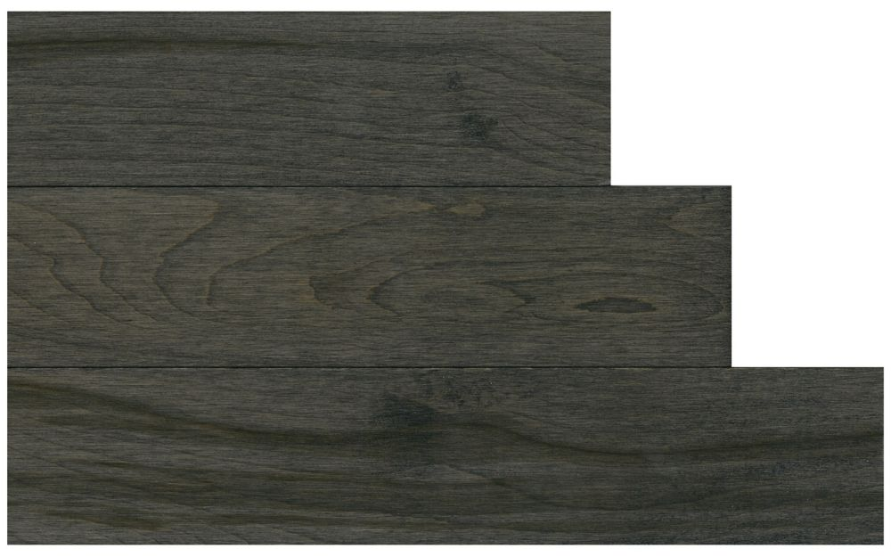 Solid Hardwood Natural Maple   3 1/4 Inch   Stained Urban Grey