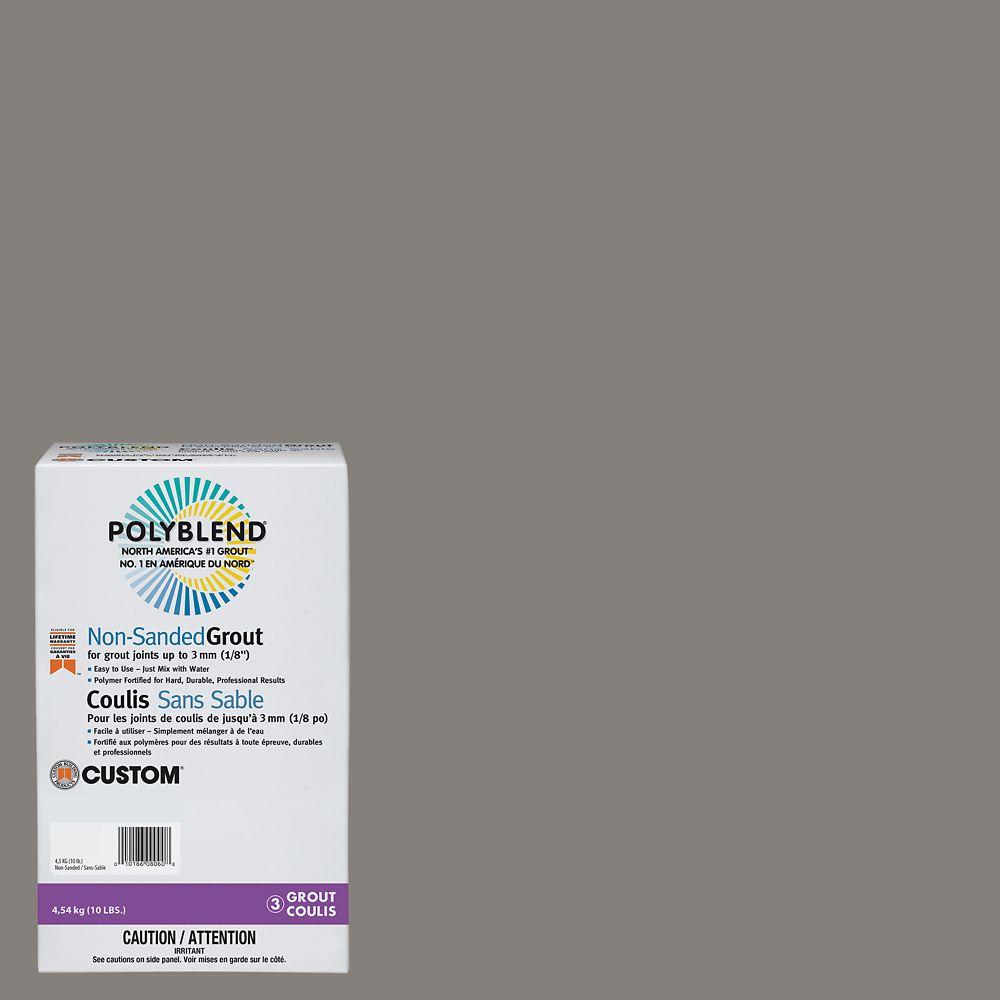 #335 Winter Gray 10 lb. Non-Sanded Grout CPBG33510N Canada Discount