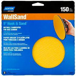 Norton Disque abrasif 9'' WallSand grain 150 pour placoplâtre