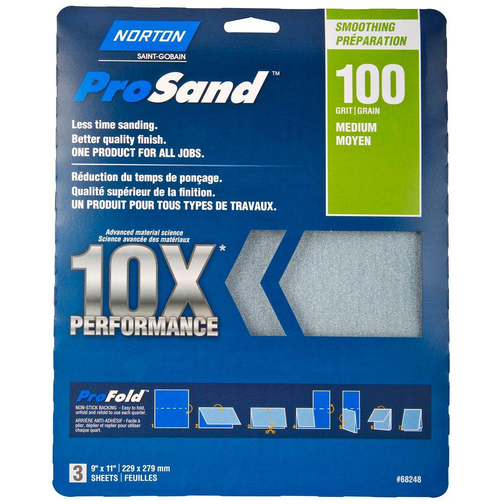 Papier à ponçer ProSand 10X grain 100
