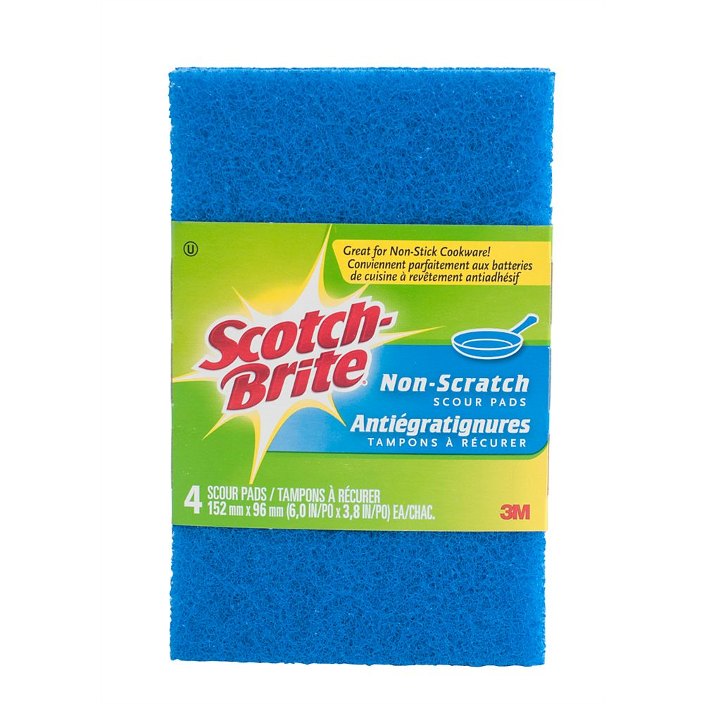 Scotch-Brite No-Scratch Scour Pad (4-Pack)