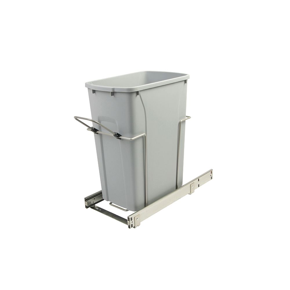 20.125 X 9.625 X 18.813 In-Cabinet Single Soft-Close Bottom-Mount 35 Qt. Pull-Out Trash Can