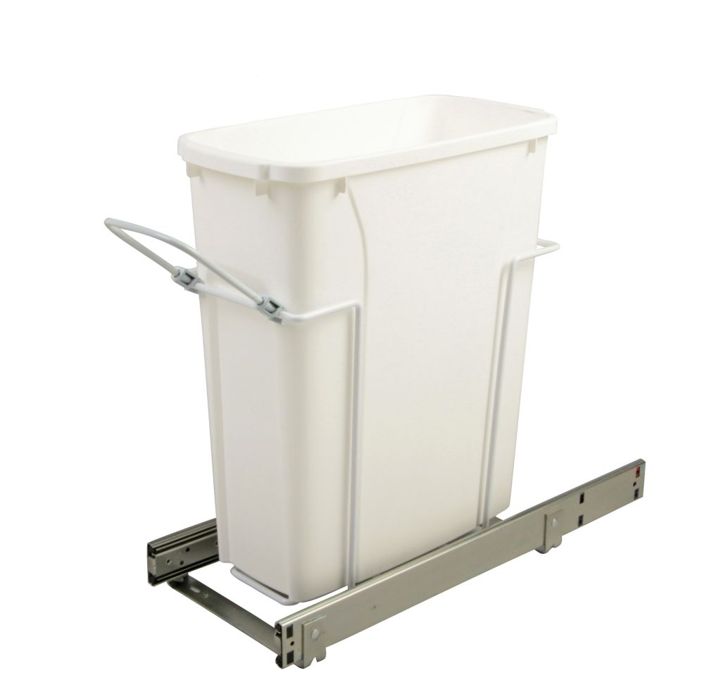 20.125 X 8.375 X 17.313 In-Cabinet Single Soft-Close Bottom-Mount 20 Qt. Pull-Out Trash Can
