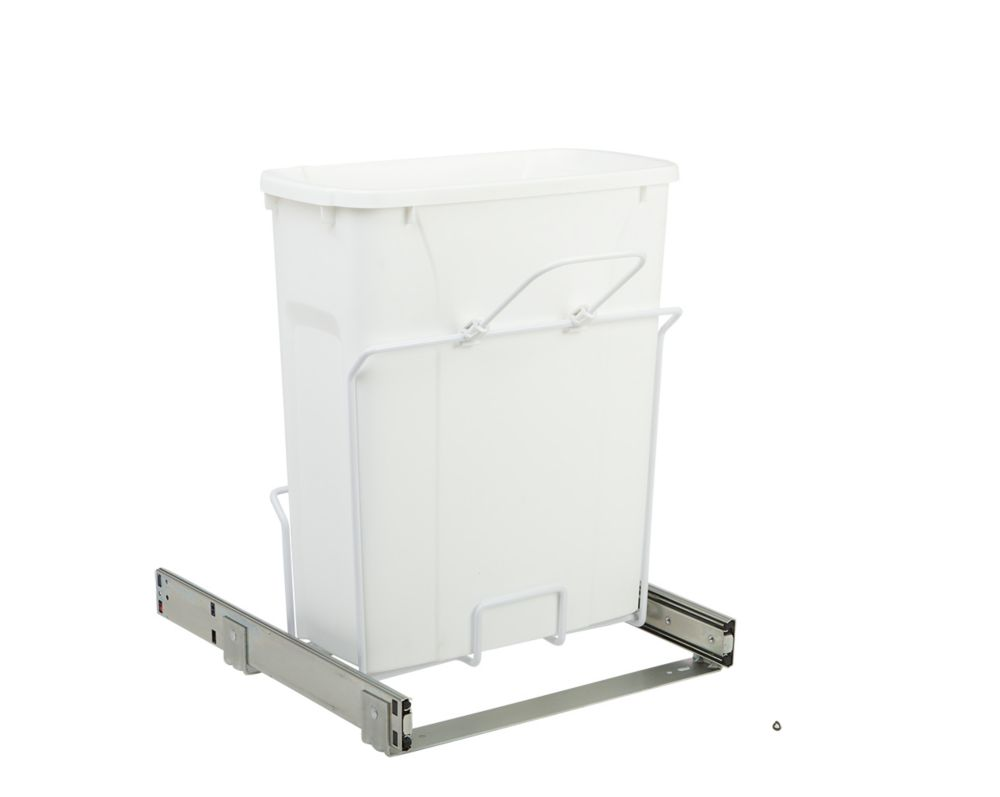 16 X 14.375 X 17.313 In-Cabinet Single Soft-Close Bottom-Mount 20 Qt. Pull-Out Trash Can