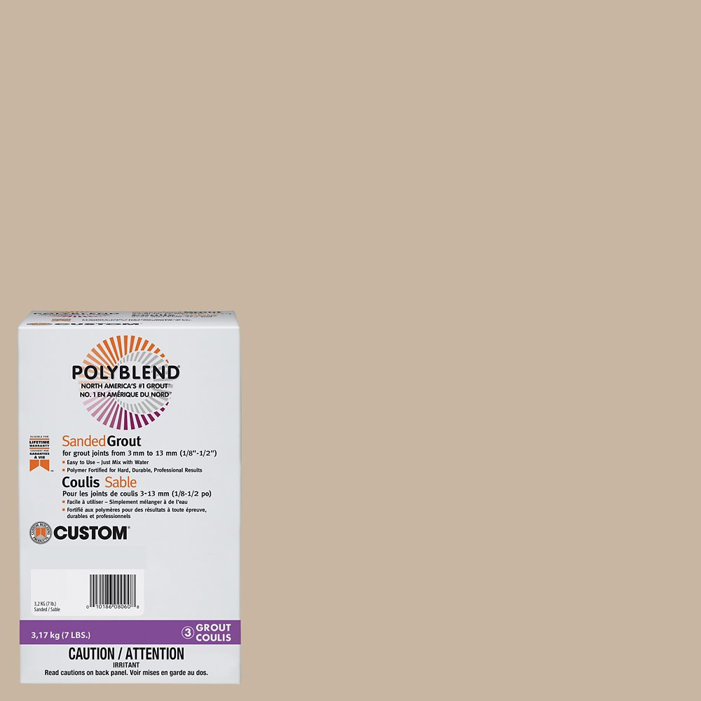 Custom Building Products #101 Quartz 7 lb. Sanded Grout