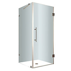 Aquadica 30-Inch  x 30-Inch  x 72-Inch  Frameless Square Shower Stall in Stainless Steel