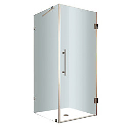 Aston Aquadica 34-Inch  x 34-Inch  x 72-Inch  Frameless Square Shower Stall in Stainless Steel