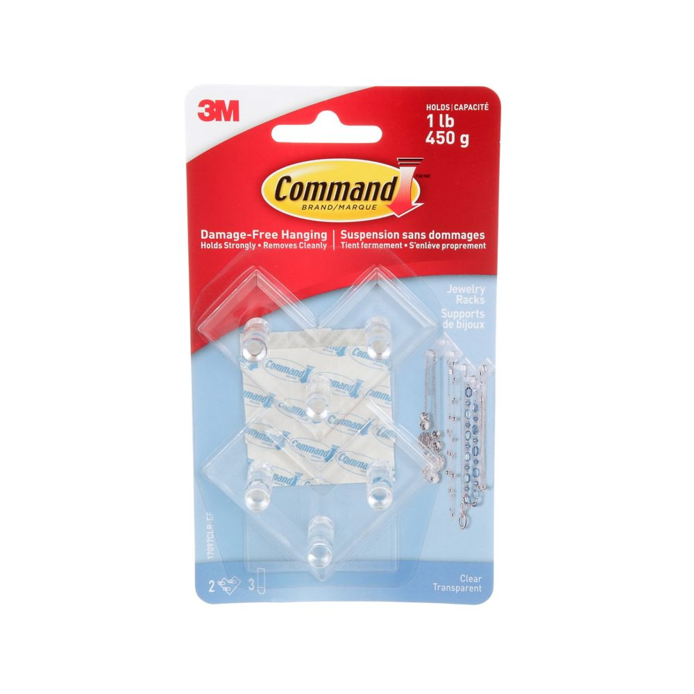 Command jewellery Rack, 17097CLR-EF, clear