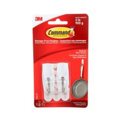 Command Medium Wire Toggle Hook, 17065-EF, white