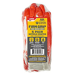 Firm Grip 5 Pair Nitrile Coated Glvs