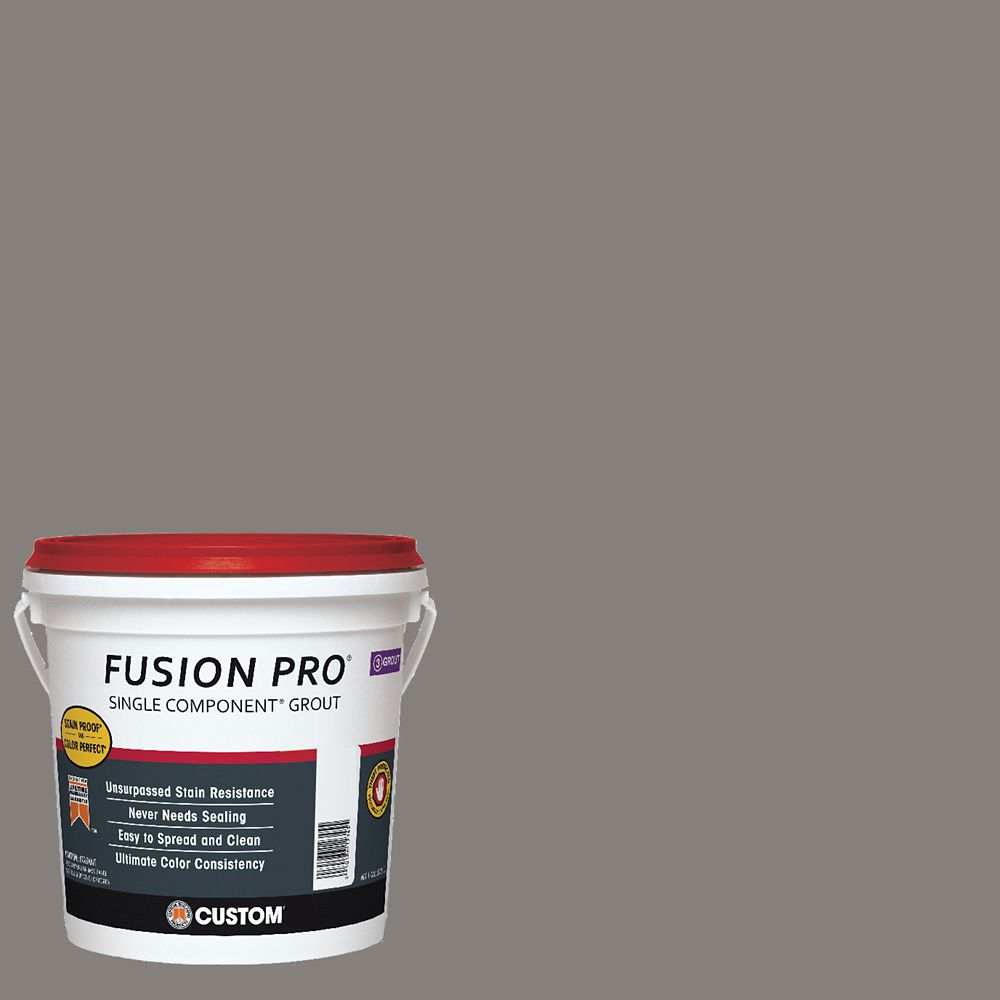 Custom Building Products #335 Winter Gray Fusion Pro 1Gal