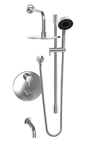 JALO Thermostatic Rain Shower Faucet in Chrome | The Home Depot Canada