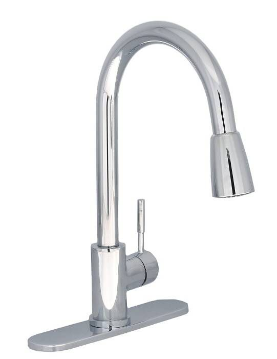 Maria Single Lever Pull-Down Kitchen Faucet - Chrome HUI-6000-02-CC Canada Discount