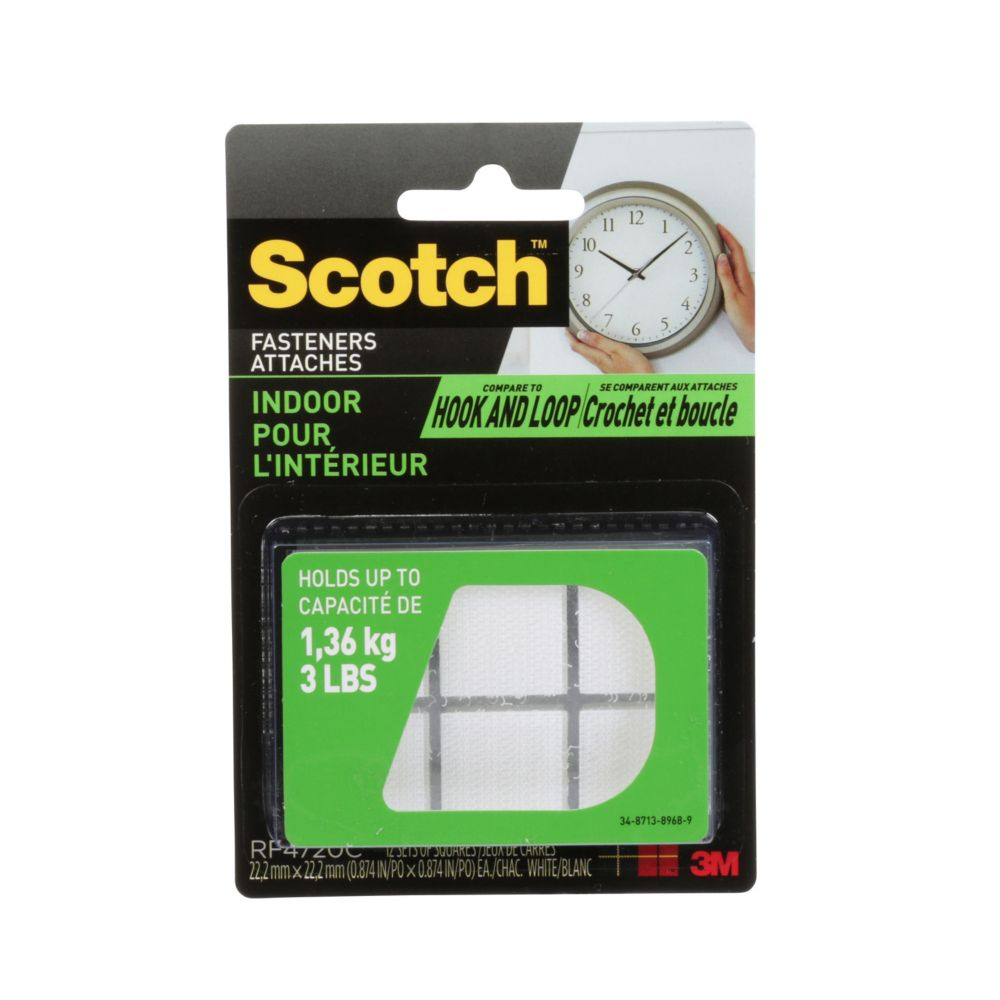 Scotch Indoor Fasteners, .875 Inch. X.875 Inch.