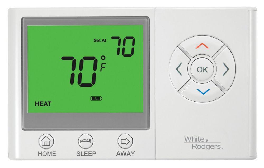 Thermostat universel WR non programmable avec fonctions Séjour/Sommeil/Absence