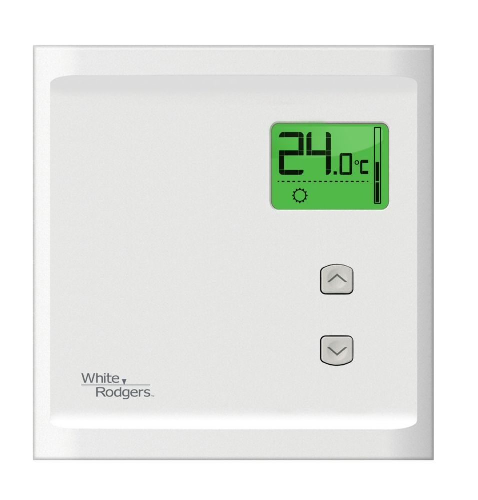 WR Heat Only Electronic Baseboard Dual Pole 240V/120V Thermostat - Back Light Display