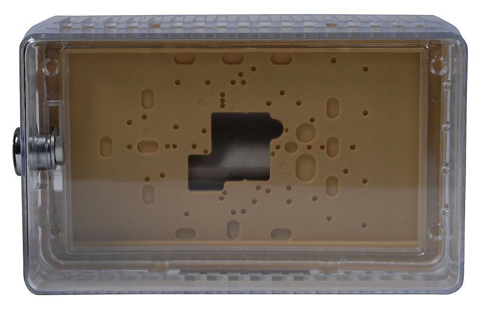 Grand protecteur de thermostat universel, couvercle transparent avec plaque et anneau de montage