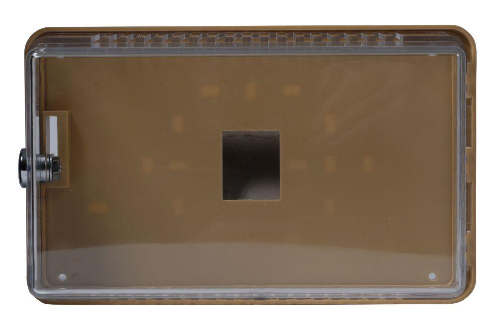 Petit protecteur de thermostat universel, couvercle transparent avec plaque et anneau de montage