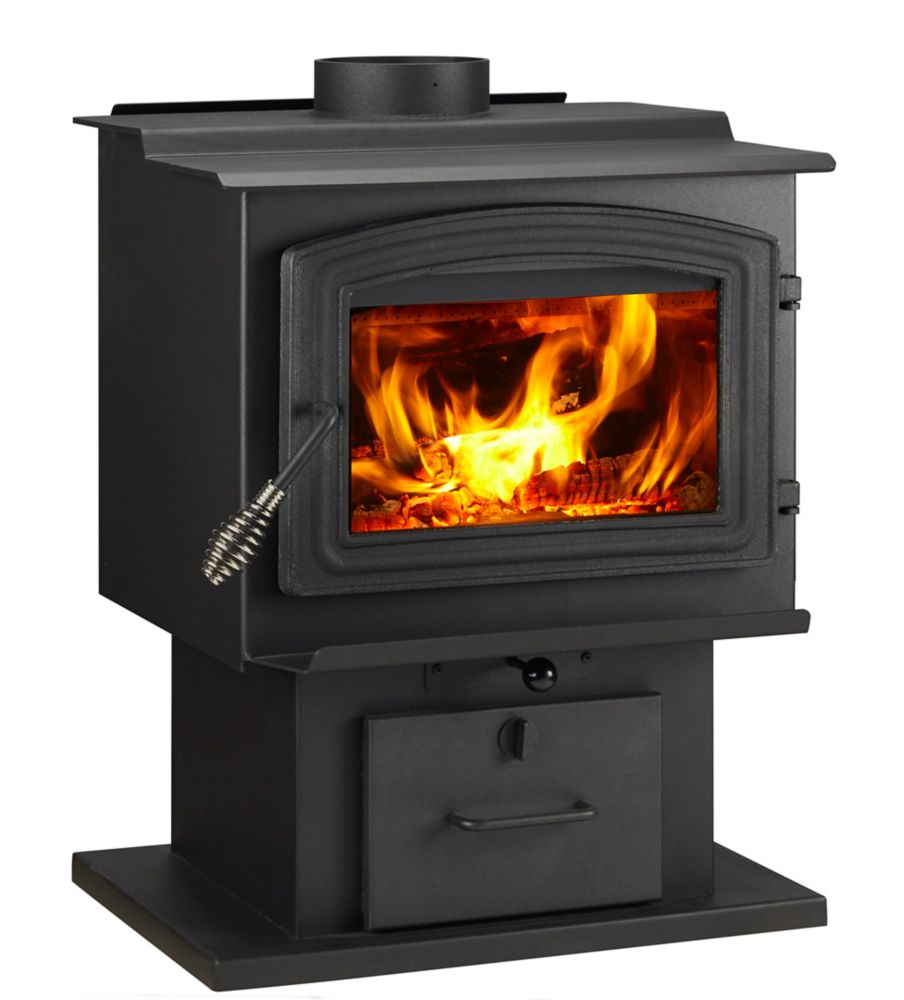 kit w small trim burning osburn door overlay nickel fireplace insert wood brushed