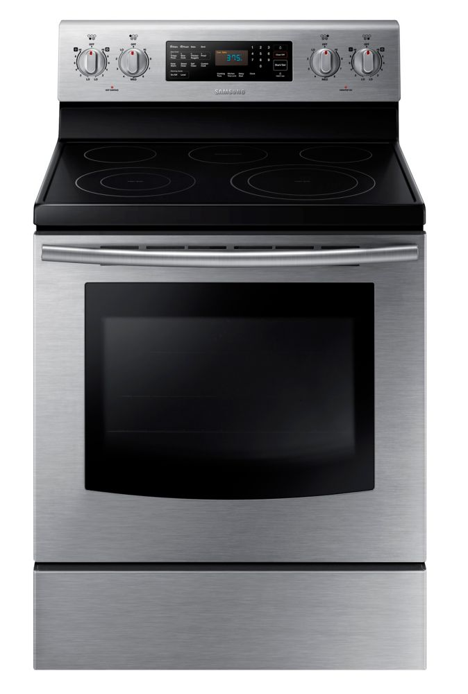 5.9 cu. ft. Free-Standing Electric Range with Steam Self-Cleaning in Stainless Steel